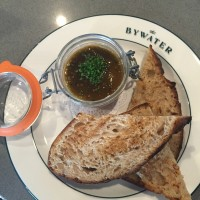 Bywater chicken liver mousse with tomatillo jam and Manresa bread