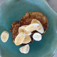 grain packed healthy pancakes with toppings