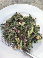egg and kale-slaw