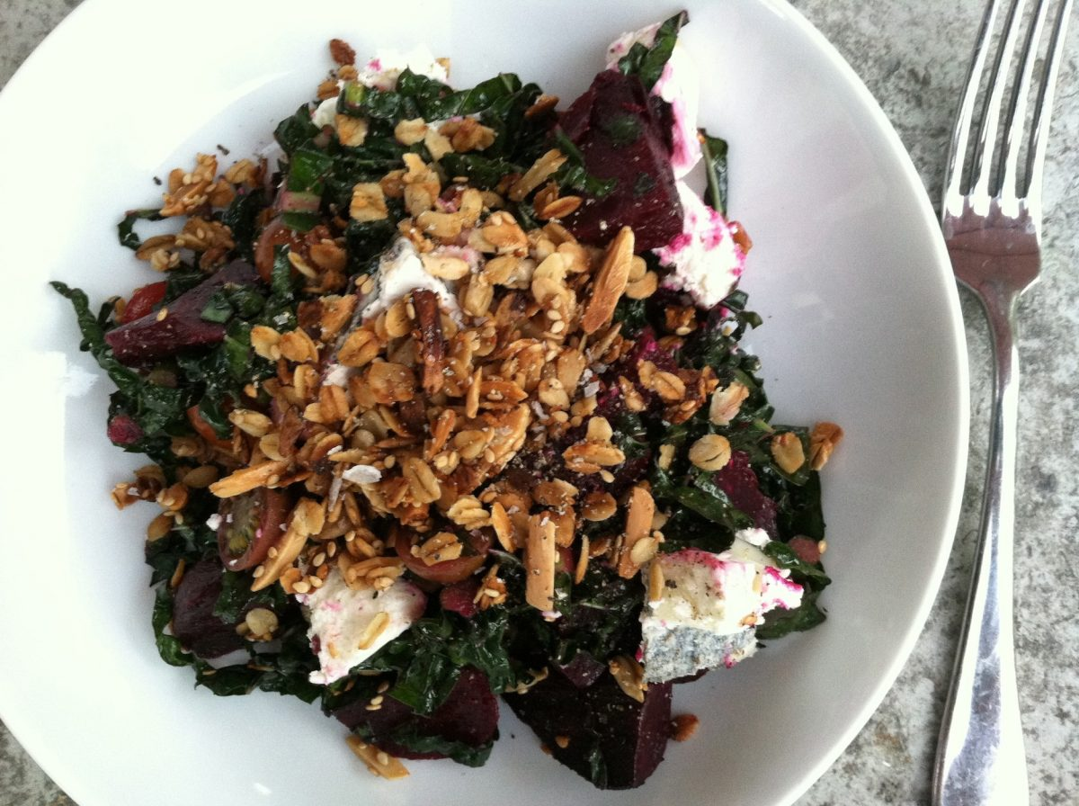 roast beet goats cheese salad
