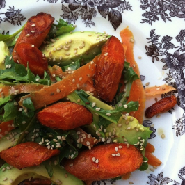 carrot avocado and sesame salad