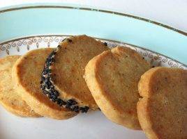 parmesan and poppy seed shortbreads