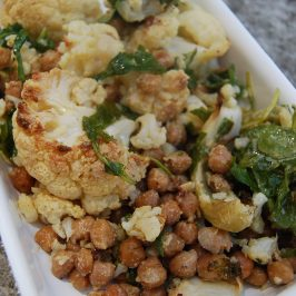 roast cauliflower chickpea salad