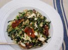 kale, date, almond and quinoa salad