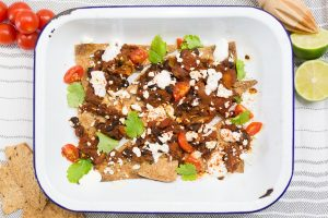 sweet potato black bean chilli nachos