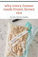 how to freeze brown rice pinterest