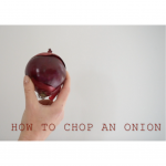 chop an onion